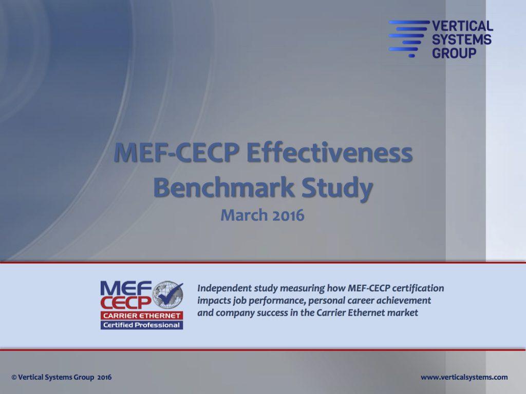 Mef Cecp Benchmark Study Carrier Ethernet Academy